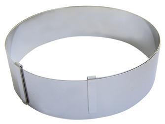 Runder, ausziehbarer Edelstahl-Rahmen für Backwaren