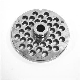 Lochscheibe aus Edelstahl, 10 mm, Fleischwolf Nr. 32
