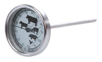 Kochthermometer mit Sonde und Ziffernblatt