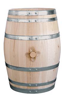 Fass aus Kastanienholz, 55 Liter.