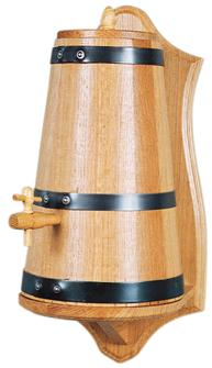 Essigbehälter aus Eichenholz, 4 Liter