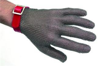 Schnittschutzhandschuh aus Edelstahl, Größe 5/5½