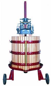 Hydraulische Obstpresse, 2 Räder, 447 Liter