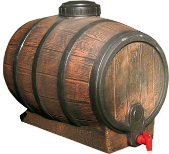 Mostfass, 30 l, in Nachahmung eines Weinfasses