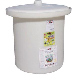 Sauerkrauttopf aus Kunststoff, 25 Liter.
