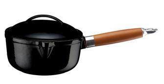 Gusseiserner Stieltopf rund, 16cm, 1,45l, schwarz