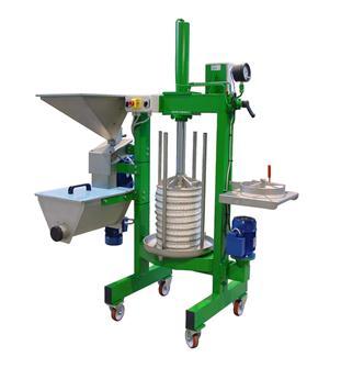 Vollelektrische Presse mit Mühle für die Extraktion von Olivenöl