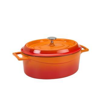 Ovaler Schmortopf 25x20, orange