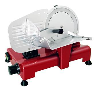 Elektrische Profi-Aufschnittmaschine 195mm CE, rot