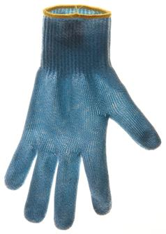 Schnittschutzhandschuh, Größe 6, gelbe Borte