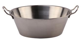 Edelstahlschüssel für Fett und Marmelade 38cm