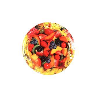 Twist-off-Deckel, Blumen- und Fruchtdekor, 63 mm, 10 Stück