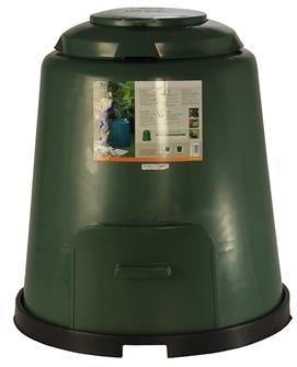 Kompostierer mit 280 Liter Fassungsvermögen mit einstellbarer Belüftung.