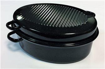 Roaster cocotte ovale grand modèle 42 cm en acier carbone emaillé