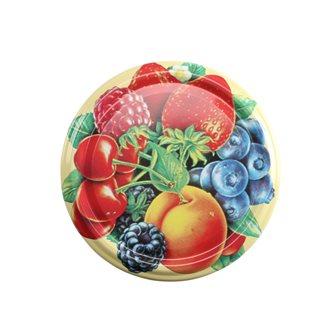 Twist-off-Deckel 82 mm mit Früchtedekor, 10 Stück