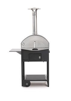 Four à bois combiné barbecue et cuisson