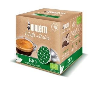Box mit 16 Kaffeekapseln Bialetti Bio.
