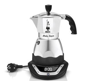 Elektrischer Espressokocher aus Italien mit Timer, 3 Tassen