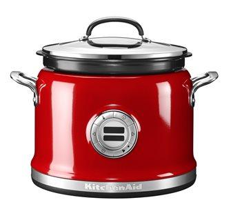 Multi cuiseur inox 12 fonctions rouge
