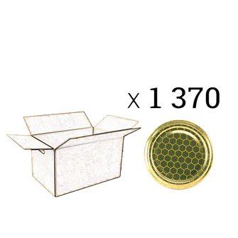 Twist-off-Verschlüsse 63 mm Durchmesser mit Warenmuster 1370 Stück