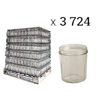 Pots à confitures 12 côtes 324 ml par palette de 3724