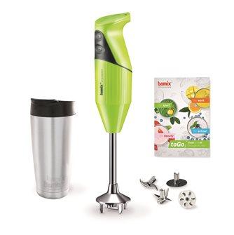 Coffret mixeur plongeur Bamix 180 W vert pour smoothie