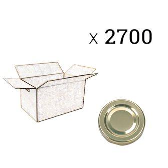 Twist-Off-Verschlüsse gold 48 mm zu 2700 Stück