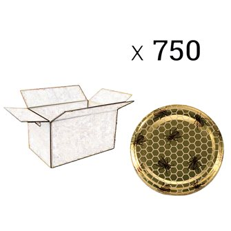 Twist-Off-Deckel, Bienenmuster, 82 mm Durchm. zu 750 Stück