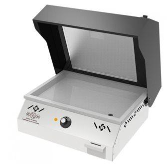 Plancha électrique avec hotte intégrée plaque inox 45x31