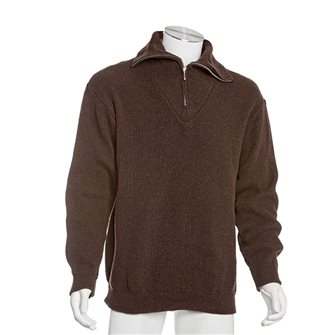 Pull col camionneur homme de travail Bartavel Isard chocolat L