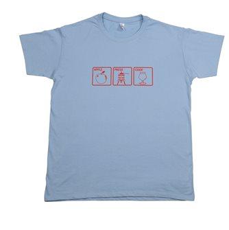 T-Shirt M Apple Press Cider Tom Press grün mit rotem Aufdruck