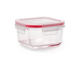 Boîte de conservation en verre 15x15 cm hermétique et empilable