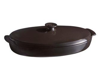 Schmorpfanne aus Keramik Anthrazit Holzkohle Emile Henri