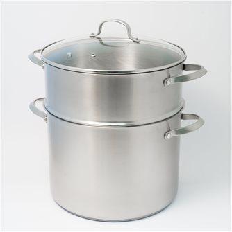 Edelstahl-Couscousière 30cm, 16 Liter