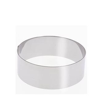 Cercle inox 12 cm haut 6 cm pour vacherin et autres pâtisseries