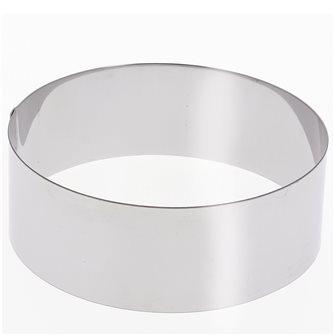 Cercle inox 30 cm haut 6 cm pour vacherin et autres pâtisseries