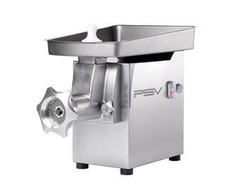 Hachoir à viande électrique inox pro double coupe H82 350 kg/h marche arrière 1 100 W monophasé