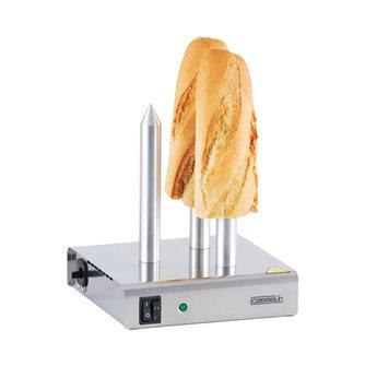 Chauffe pain professionnel 3 plots pour sandwich hot dog